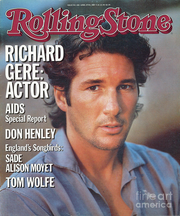 Rolling Stone Cover - Volume #446 - 4/25/1985 - Richard Gere Photograph  - Rolling Stone Cover - Volume #446 - 4/25/1985 - Richard Gere Fine Art Print