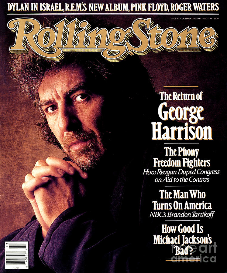 Rolling Stone Cover - Volume #511 - 10/22/1987 - George Harrison Photograph  - Rolling Stone Cover - Volume #511 - 10/22/1987 - George Harrison Fine Art Print