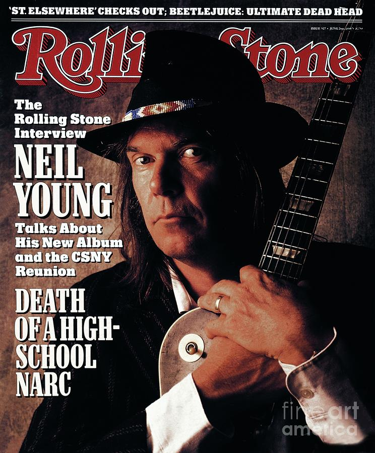 Rolling Stone Cover - Volume #527 - 6/2/1988 - Neil Young  Photograph  - Rolling Stone Cover - Volume #527 - 6/2/1988 - Neil Young  Fine Art Print