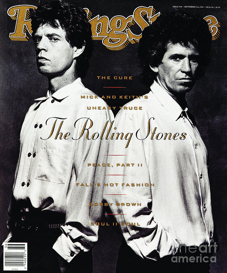 Rolling Stone Cover - Volume #560 - 9/7/1989 - Mick Jagger And Keith Richards Photograph  - Rolling Stone Cover - Volume #560 - 9/7/1989 - Mick Jagger And Keith Richards Fine Art Print