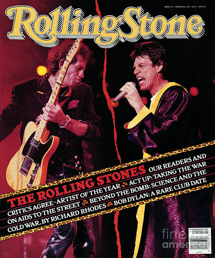 Rolling Stone Cover - Volume #573 - 3/8/1990 - Mick Jagger And Keith Richards Photograph  - Rolling Stone Cover - Volume #573 - 3/8/1990 - Mick Jagger And Keith Richards Fine Art Print