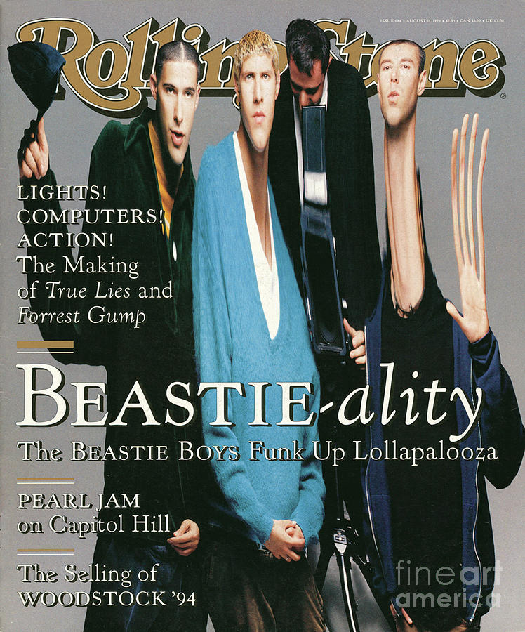 Rolling Stone Cover - Volume #688 - 8/11/1994 - The Beastie Boys Photograph  - Rolling Stone Cover - Volume #688 - 8/11/1994 - The Beastie Boys Fine Art Print