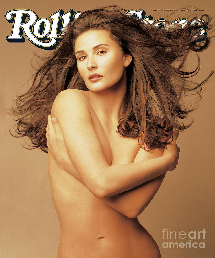 Rolling Stone Cover - Volume #701 - 2/9/1995 - Demi Moore Photograph  - Rolling Stone Cover - Volume #701 - 2/9/1995 - Demi Moore Fine Art Print