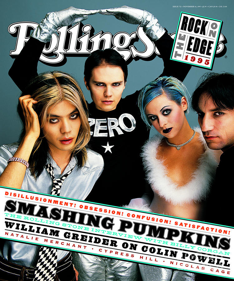 Rolling Stone Cover - Volume #721 - 11/16/1995 - Smashing Pumpkins Photograph  - Rolling Stone Cover - Volume #721 - 11/16/1995 - Smashing Pumpkins Fine Art Print