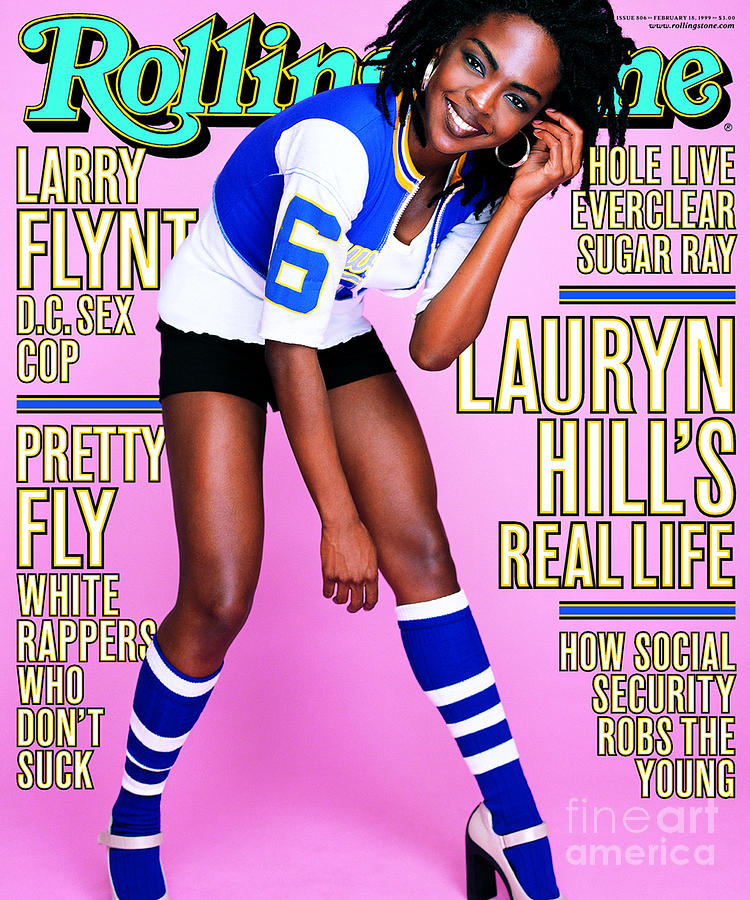 Rolling Stone Cover - Volume #806 - 2/18/1999 - Lauryn Hill Photograph  - Rolling Stone Cover - Volume #806 - 2/18/1999 - Lauryn Hill Fine Art Print