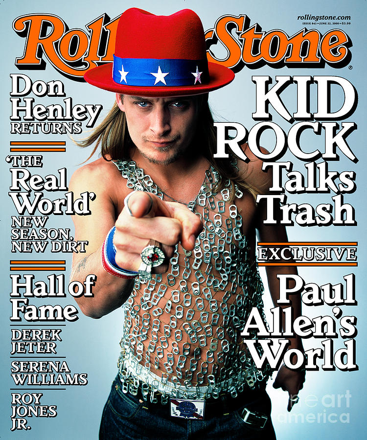 Rolling Stone Cover - Volume #843 - 6/22/2000 - Kid Rock Photograph  - Rolling Stone Cover - Volume #843 - 6/22/2000 - Kid Rock Fine Art Print