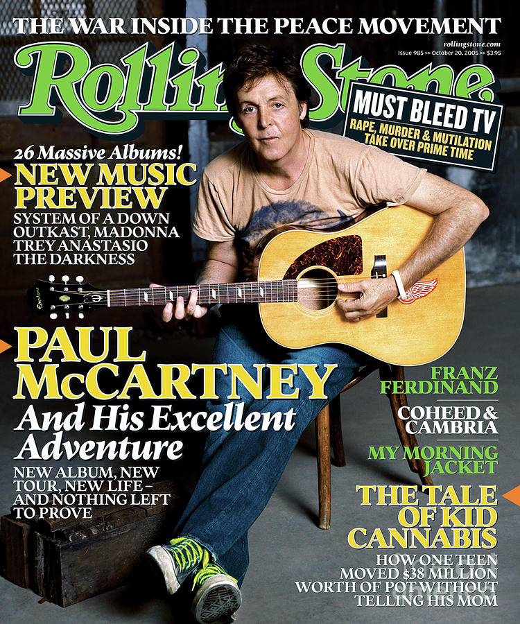 Rolling Stone Cover - Volume #985 - 10/20/2005 - Paul Mccartney Photograph  - Rolling Stone Cover - Volume #985 - 10/20/2005 - Paul Mccartney Fine Art Print