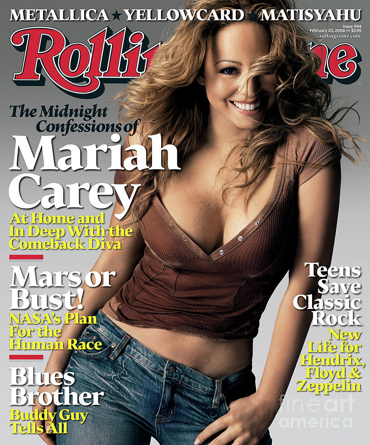 Rolling Stone Cover - Volume #994 - 2/23/2006 - Mariah Carey Photograph  - Rolling Stone Cover - Volume #994 - 2/23/2006 - Mariah Carey Fine Art Print