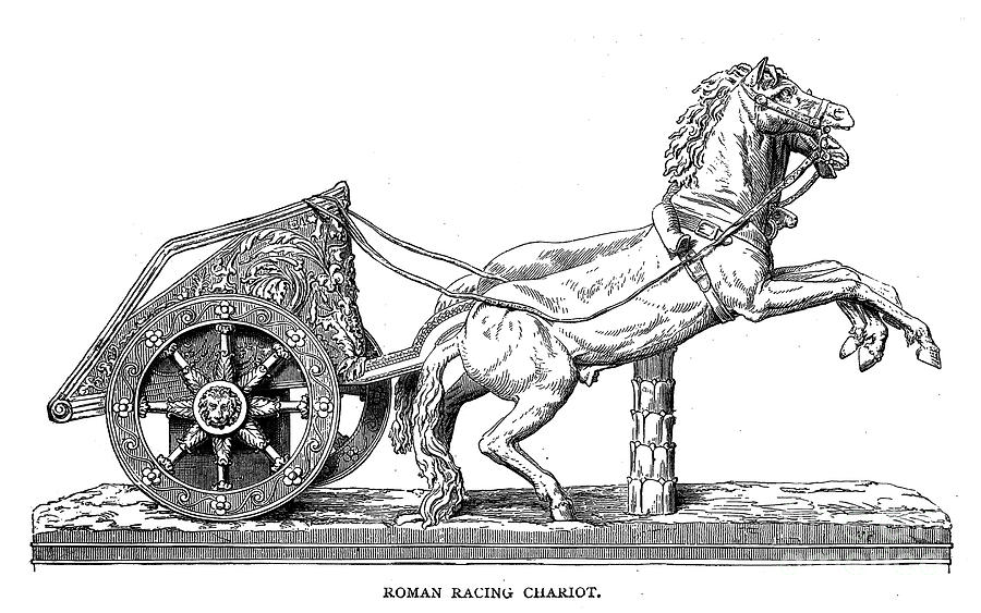 how to draw a chariot