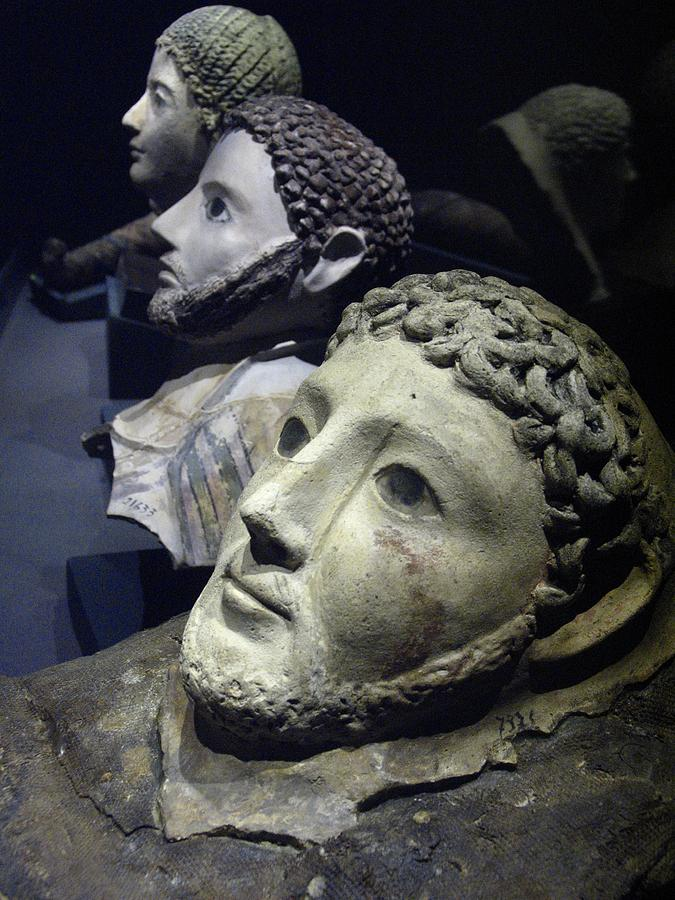 Roman Death Masks Recovered Photograph