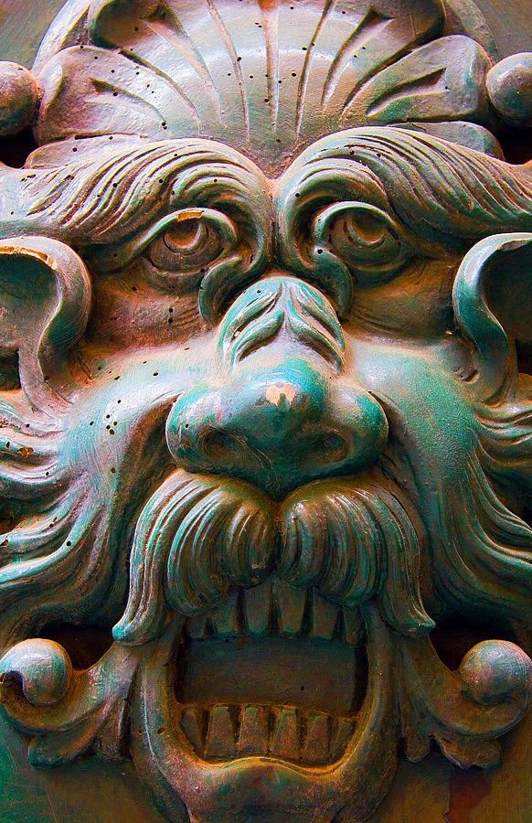 Roman Door Knocker Photograph  - Roman Door Knocker Fine Art Print