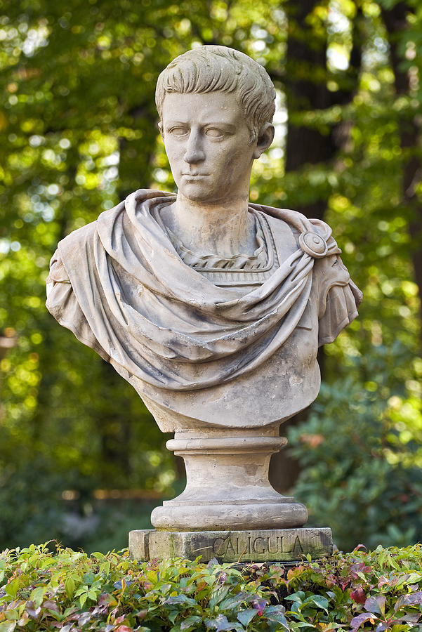 Roman Emperor Caligula. Photograph