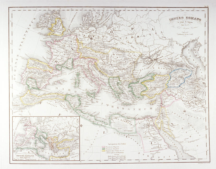Roman Empire At The Time Of Augustus Digital Art