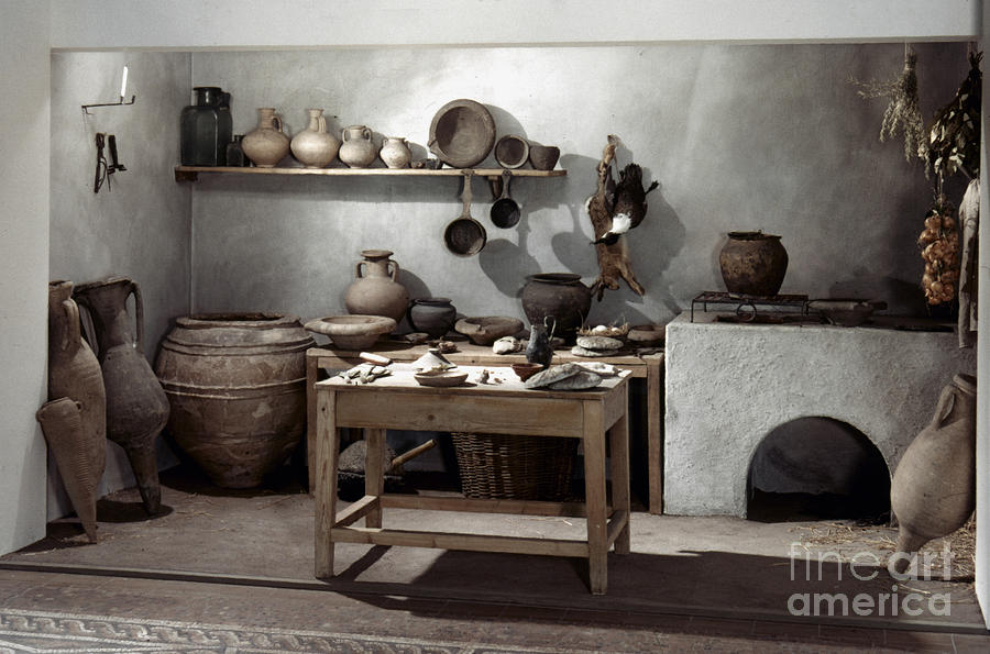 Roman Kitchen, 100 A.d Photograph