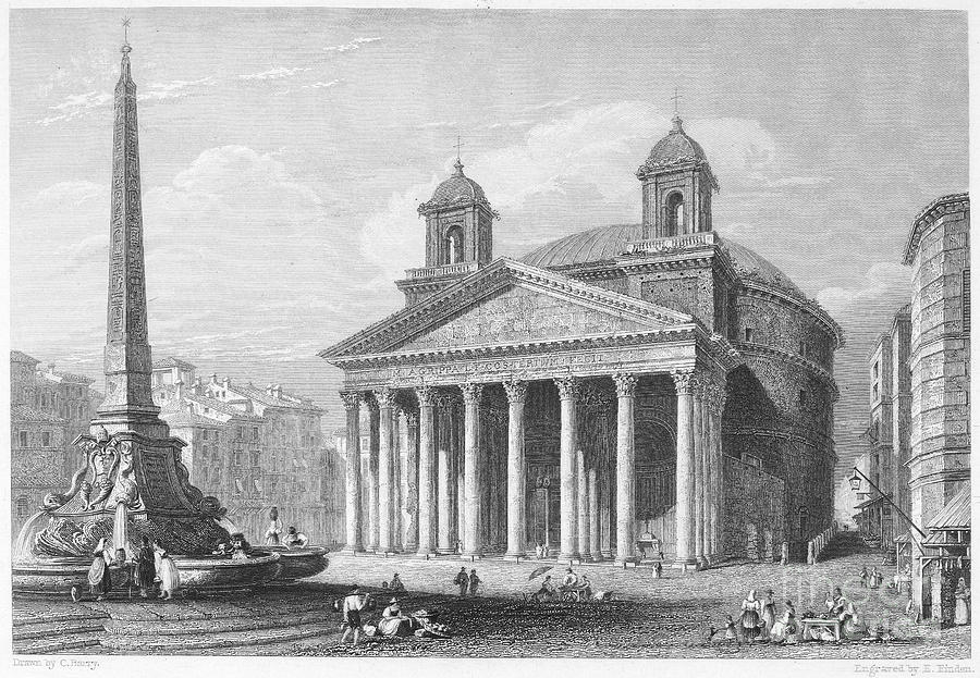Roman Pantheon, 1833 Photograph