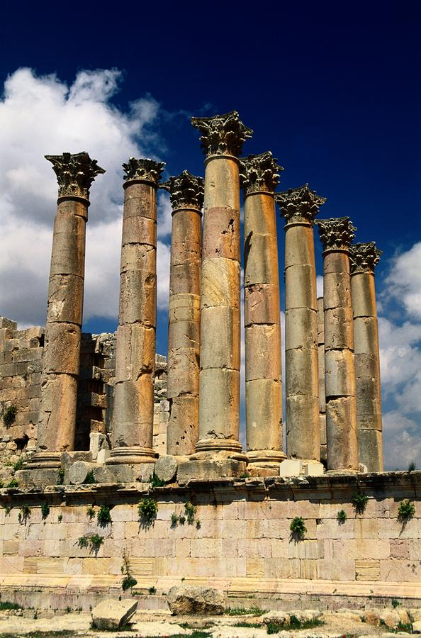 Roman Ruins At Jerash, Jordan Photograph