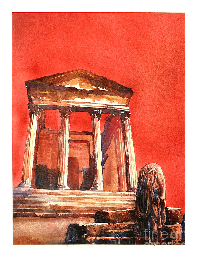 Roman Ruins- Tunisia Painting
