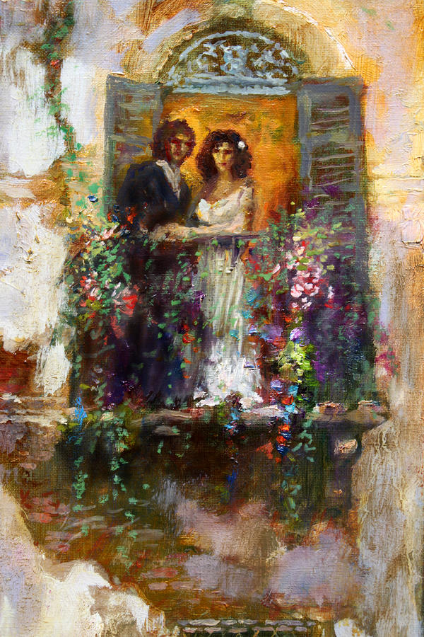 Romance in venice fragment balcony is a painting by ylli haruni which