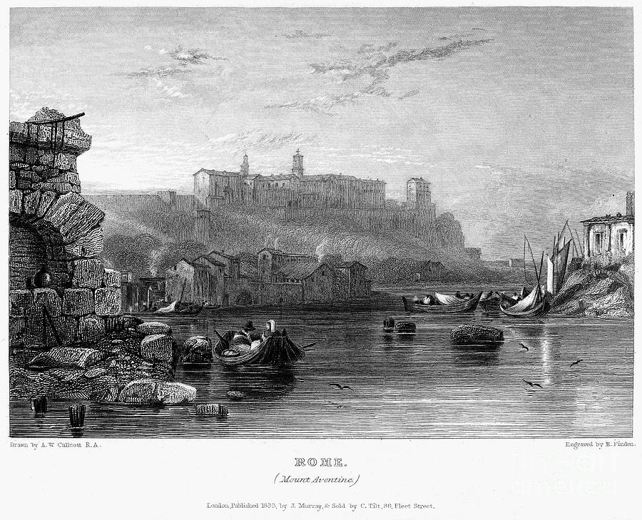 Rome: Aventine Hill, 1833 Photograph