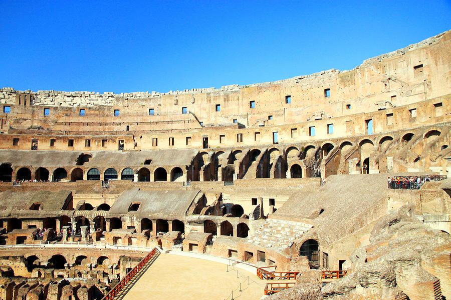 Rome Photograph - Rome Coliseum by Valentino Visentini