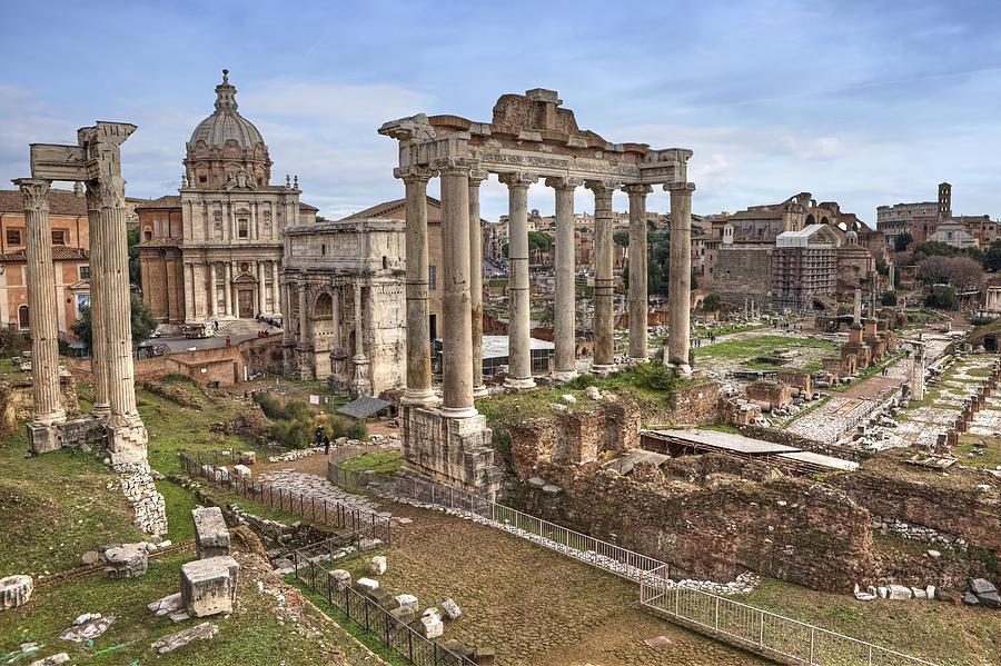 Roman Forum Photograph - Rome Forum Romanum by Joana Kruse