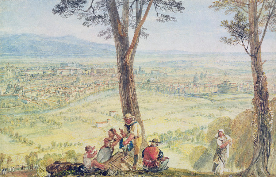Rome From Monte Mario Painting