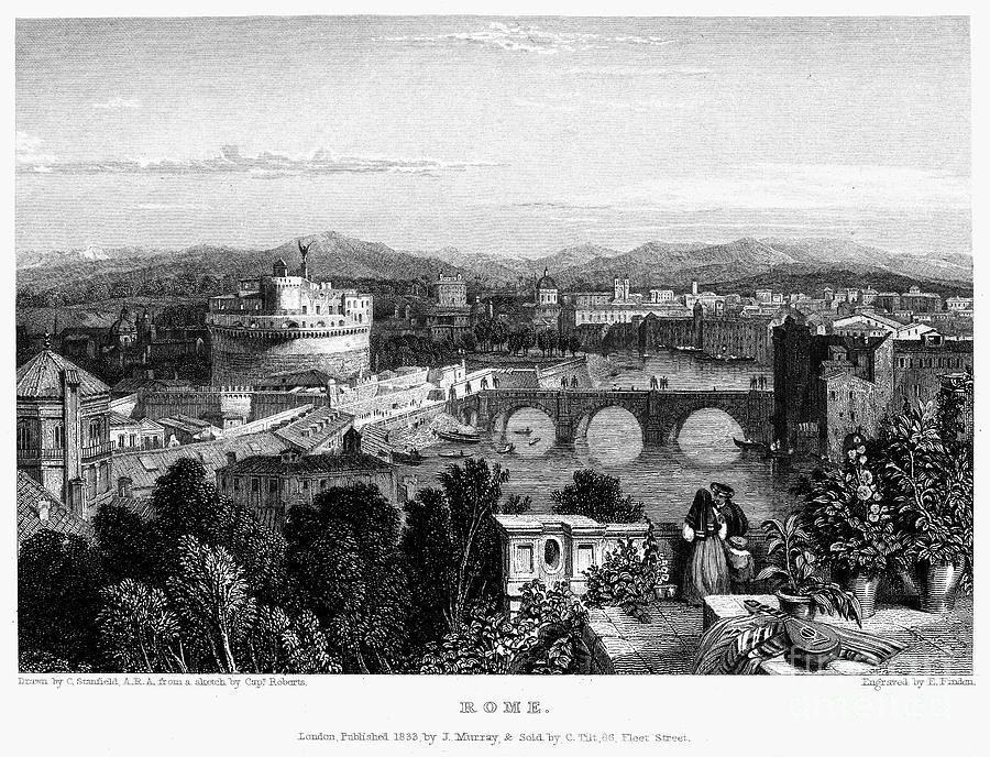 Rome: Scenic View, 1833 Photograph