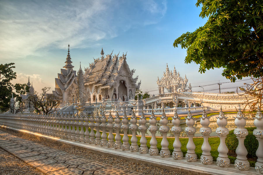 Hdr Photograph - Rong Khun Temple by Adrian Evans