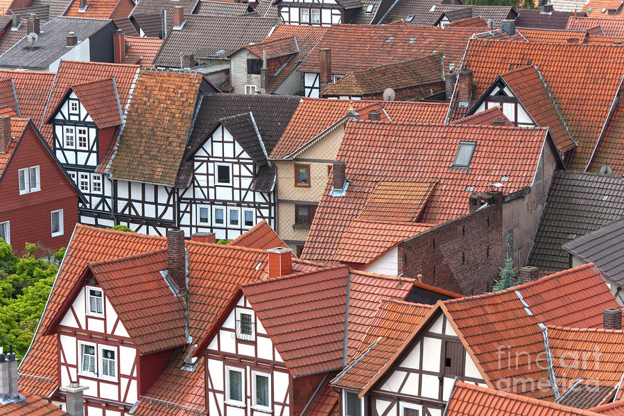 Roofs Of Bad Sooden-allendorf Photograph  - Roofs Of Bad Sooden-allendorf Fine Art Print