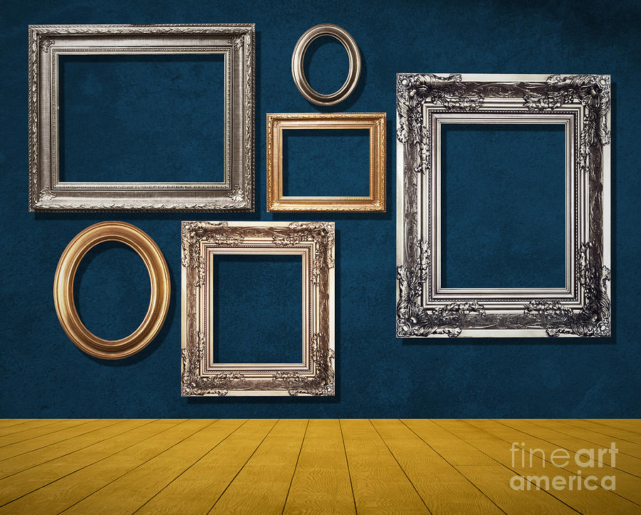 Room With Frames Mixed Media  - Room With Frames Fine Art Print