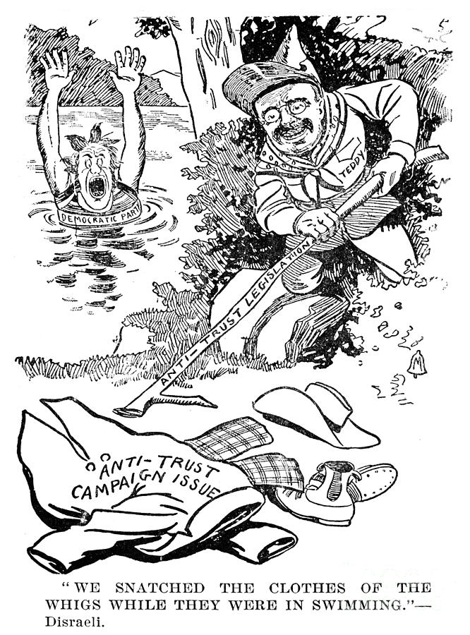 Roosevelt Cartoon, 1902 Photograph  - Roosevelt Cartoon, 1902 Fine Art Print