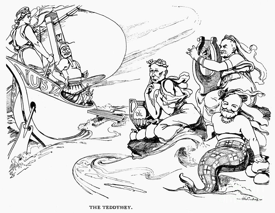 Roosevelt Cartoon, 1907 Photograph