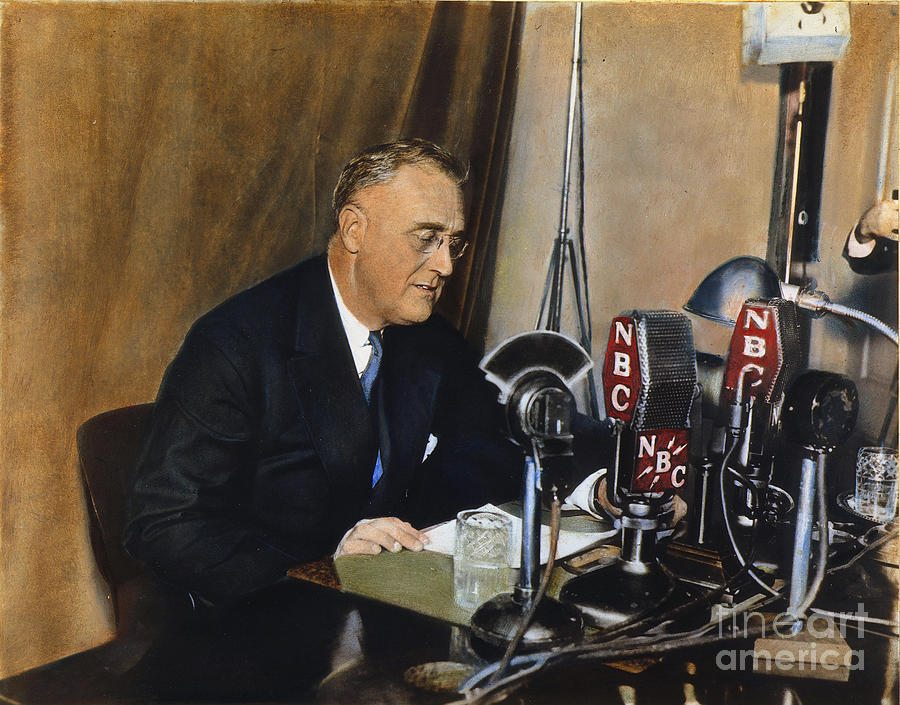 Roosevelt: Fireside Chat Photograph  - Roosevelt: Fireside Chat Fine Art Print
