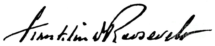 20th Century Photograph - Roosevelt Signature by Granger