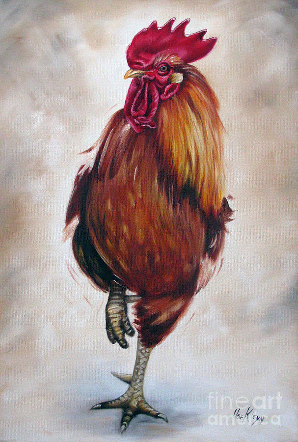 Rooster 17 Of 10 Painting  - Rooster 17 Of 10 Fine Art Print
