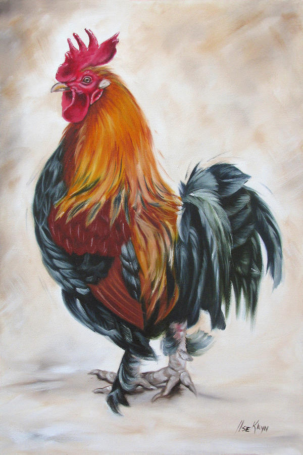 Rooster 19 Of 10 Painting  - Rooster 19 Of 10 Fine Art Print