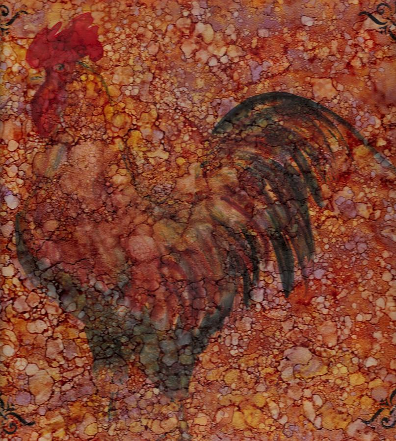Rooster 4 Large Painting  - Rooster 4 Large Fine Art Print