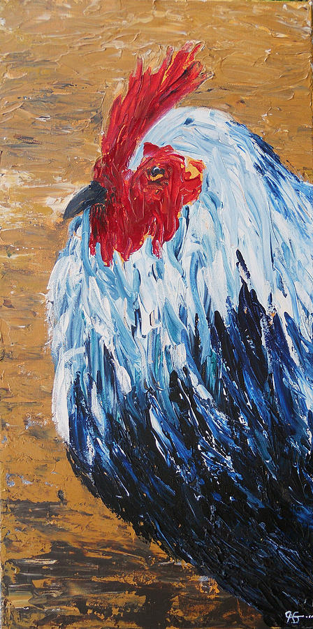 Acrylic Painting - Rooster by Carol McLagan