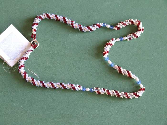 Rope Weave With Swarovski And Seed Pearls Jewelry