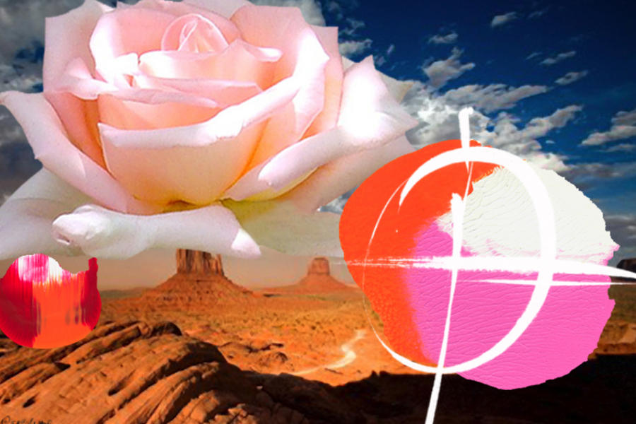 Rosa Desert Crucio Painting