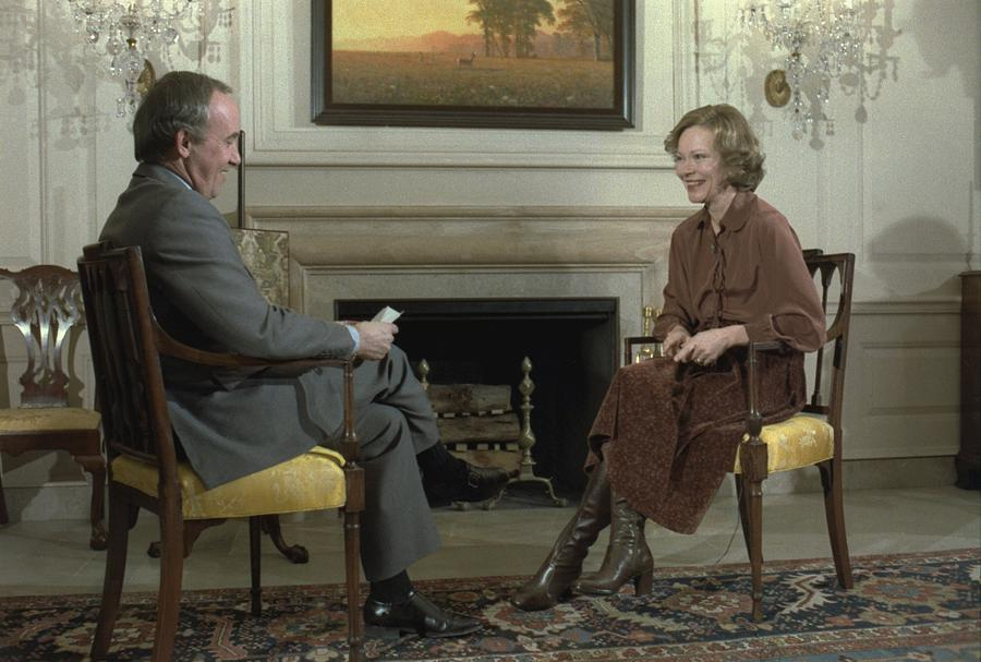 Rosalynn Carter During A White House Photograph