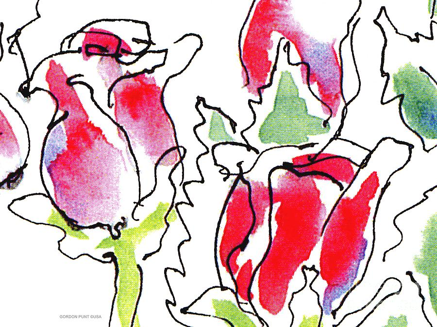 Rose-abstract-paintings-1 Painting by Gordon Punt