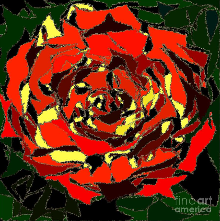 Rose Dynamic 1 Painting