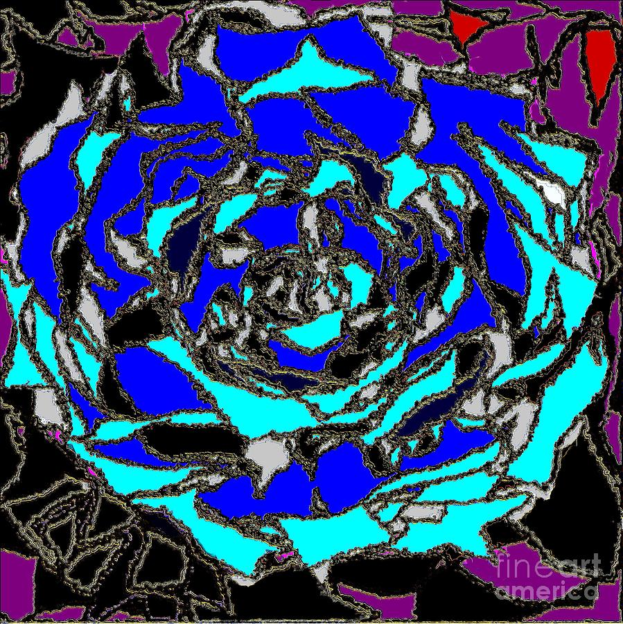Rose Dynamic 2 Painting  - Rose Dynamic 2 Fine Art Print