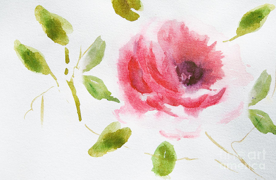 Pink Rose Drawing Rose sketch on