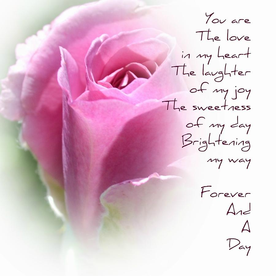valentines day quotes for him in heaven - Rose Forever Poem graph by P S