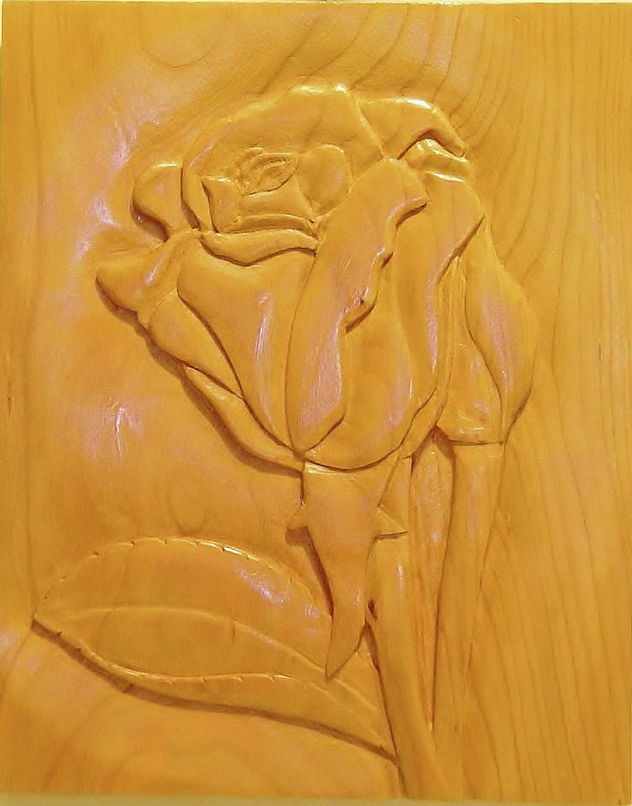 Rose Relief Sculpture