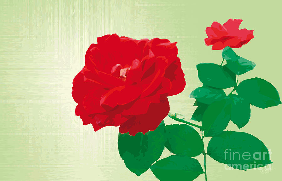Rosepleasure-green Painting  - Rosepleasure-green Fine Art Print