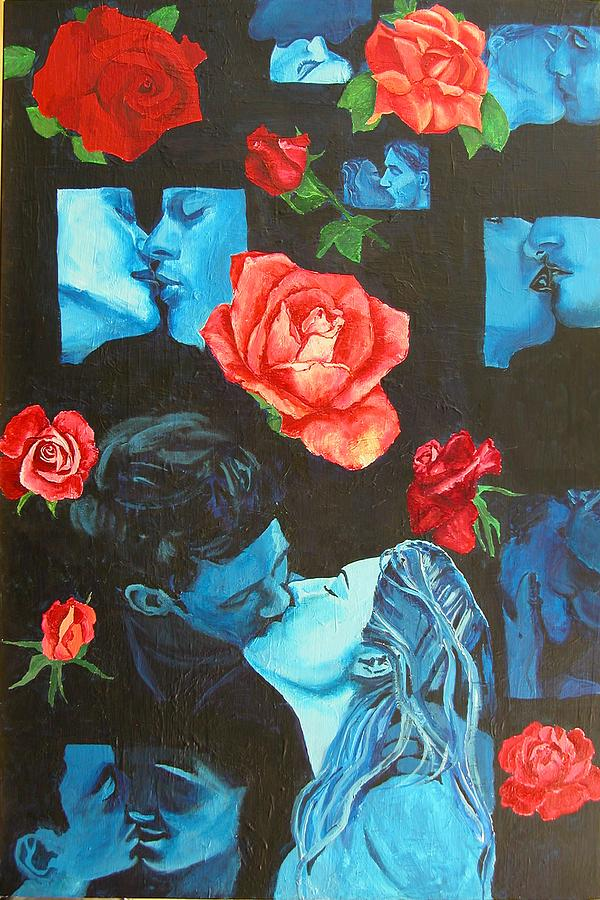 Roses And Kisses Painting