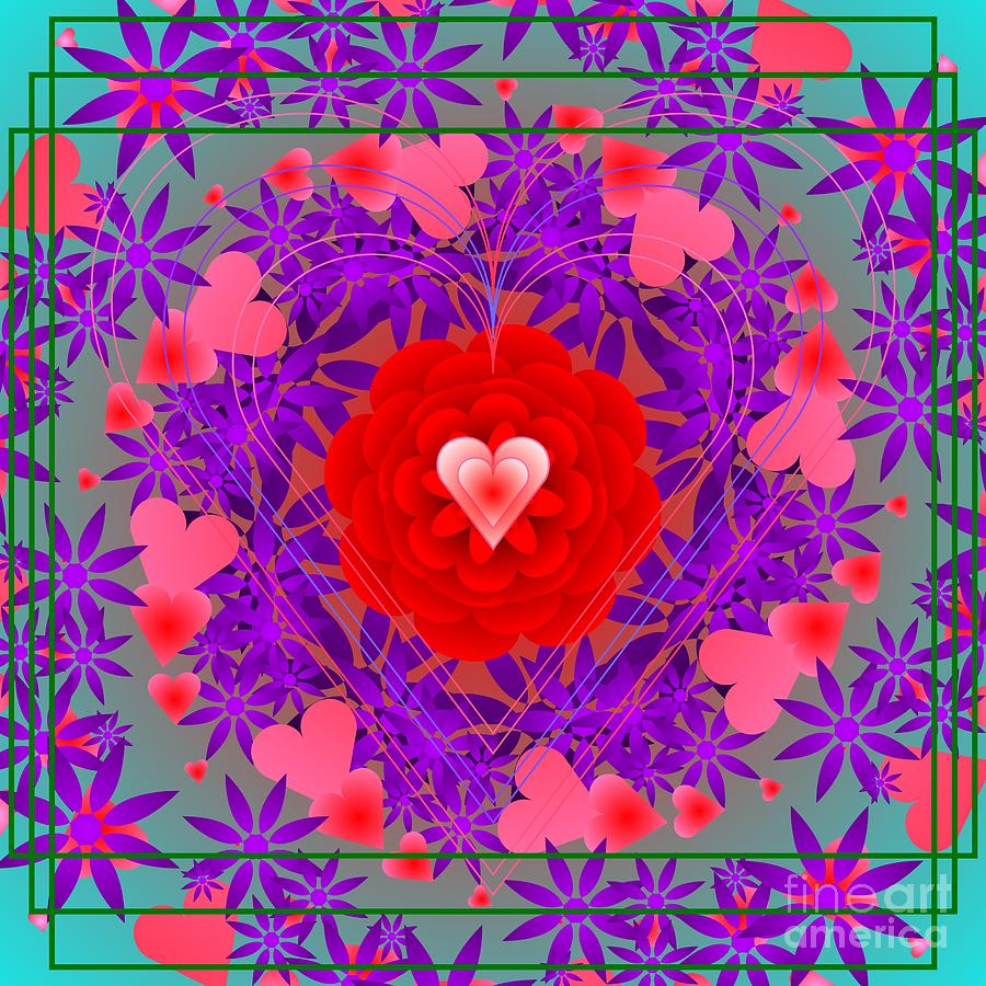 Roses Are Red Violets Are Blue 2012 Digital Art by Kathryn ...
